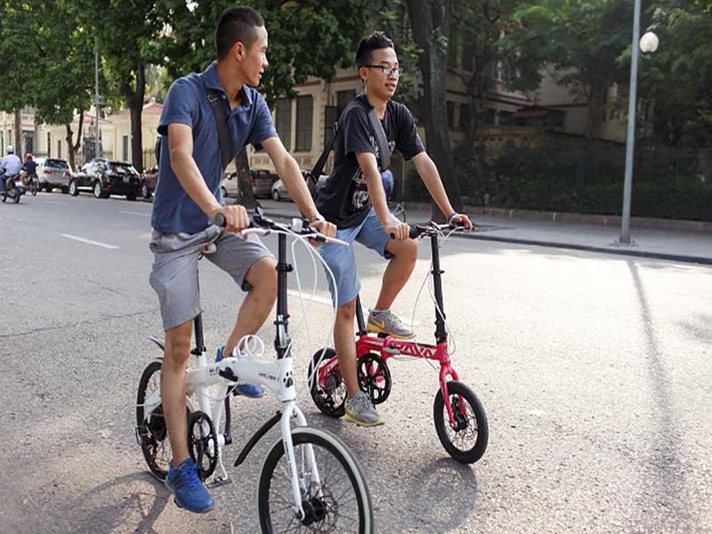 Xe đạp gấp dễ điều chỉnh chiều cao