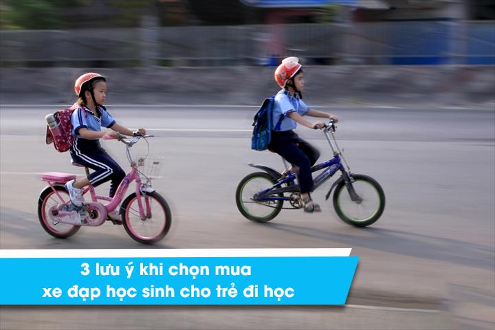 3 lưu ý khi chọn mua xe đạp học sinh cho trẻ đi học